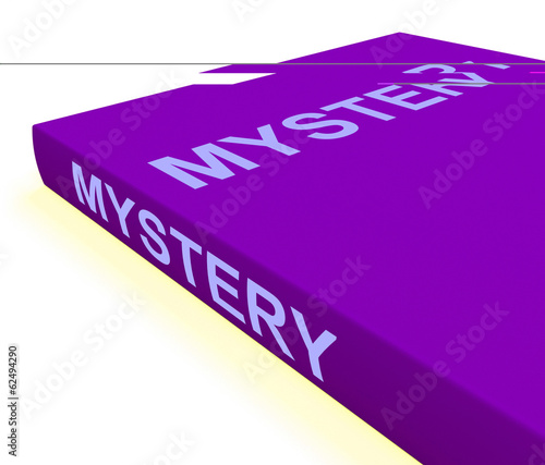 Mystery Book Shows Fiction Genre Or Puzzle To Solve