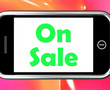 On Sale Phone Shows Promotional Savings Or Discounts