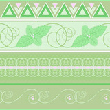 seamless pattern with mint