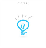 Light bulb idea background
