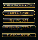 Premium quality black labels