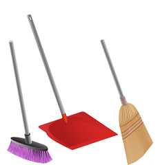 Shovel,brush and brooms