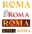 rome icon symbol isolate on white background