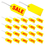"Hangtags Set ""Sale"" Minus Red/Yellow"