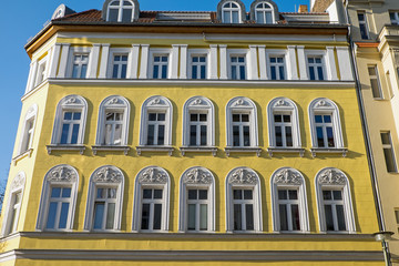 Yellow restored house in Berlin