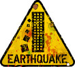 danger sign, earthquake warning sign, vector