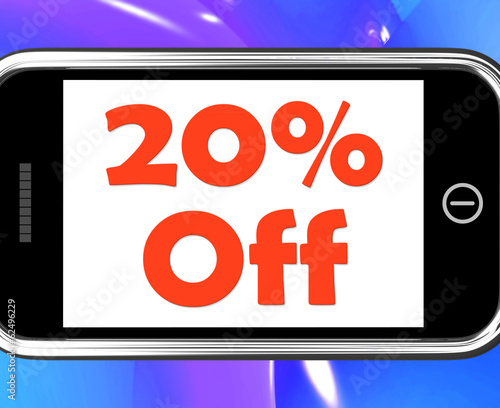 Twenty Percent Phone Shows Sale Discount Or 20 Off