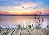 Fototapety el lago de las nubes de colores