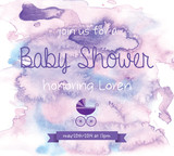 Watercolor Baby Shower Invitation