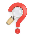 Question mark and magnifier