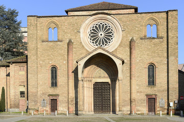 san Francesco church facade, Lodi, Italy