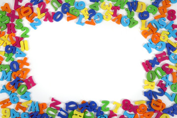 color plastic letters frame