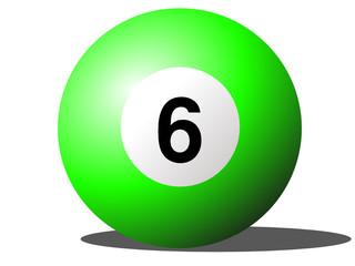 Snooker ball six