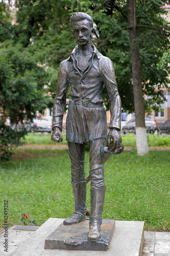 Monument of Sandor Petofi in Uzhhorod, Ukraine