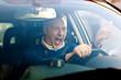 Leinwanddruck Bild - Angry driver