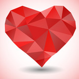 Triangle heart icon