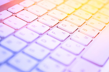 Computer keyboard colorful background.