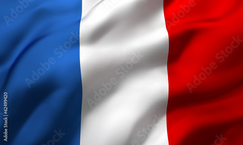 Leinwanddruck Bild flag of France
