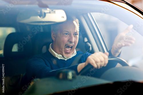 Leinwanddruck Bild Angry driver