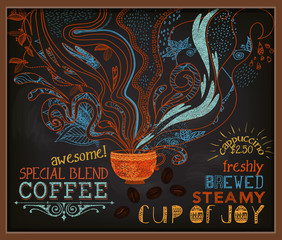 Chalkboard Poster for Coffee Shop