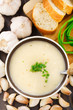 Garlic cream soup