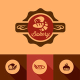 flat bakery icons