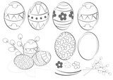Fototapety eggs, ester, wielkanocne pisanki