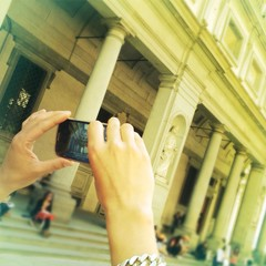 make a photo in Florence