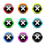 cancel icon vector set