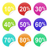 Colorful discount price tags