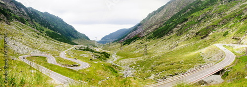 View of famous Transfagarasan Highway in Romania