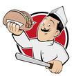 döner symbol icon restaurant logo