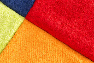Colorful background texture of cotton towels