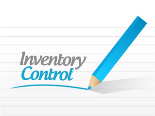 inventory control message illustration design