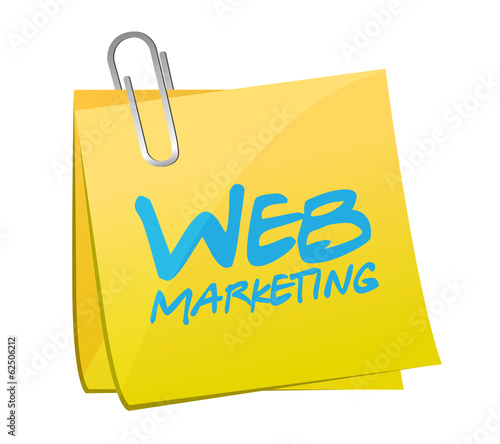 web marketing post it illustration design