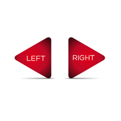 Vector left and right arrows