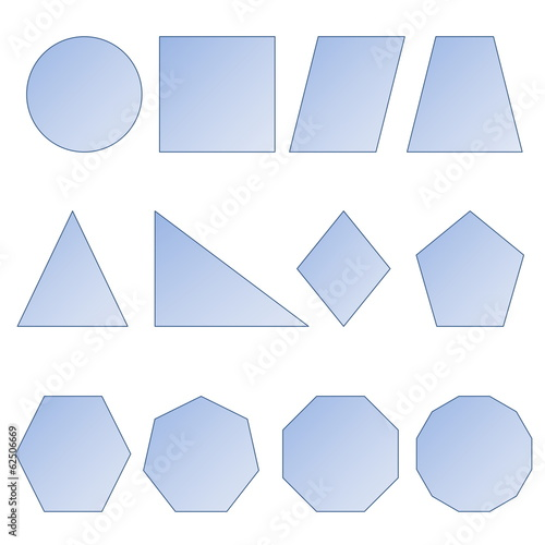 Set of shapes