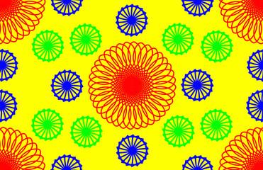 Wheel colorful pattern