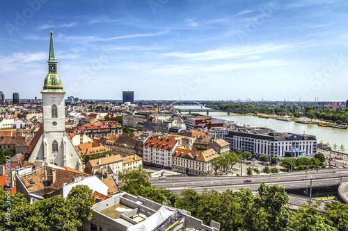 Plagát, Obraz Bratislava skyline