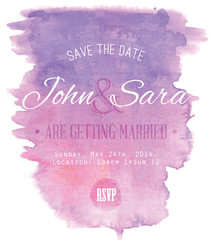Watercolor Wedding Invitation Card