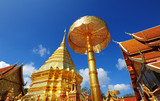 Golden Pagoda of Doi Suthep Temple in Chiang Mai, Thailand