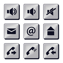 Set of modern buttons icons