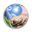energy solar can save our planet - environment  concept