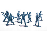 Blue Toy army toy soldiers