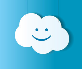 Cloud shaped banner