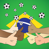 football brazil thumbs up