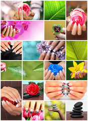 Schöne Fingernägel Kollage