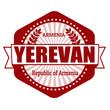 Yerevan capital of Armenia label or stamp