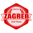 Zagreb capital of Croatia label or stamp