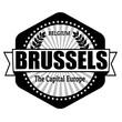 Brussels capital of Belgium label or stamp